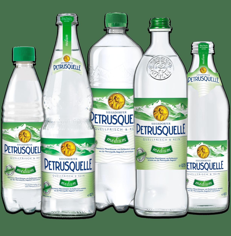 Siegsdorfer Petrusquelle Mineralwasser medium