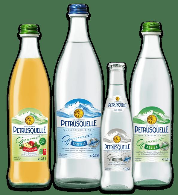 Siegsdorfer Petrusquelle Mineralwasser Gourmet